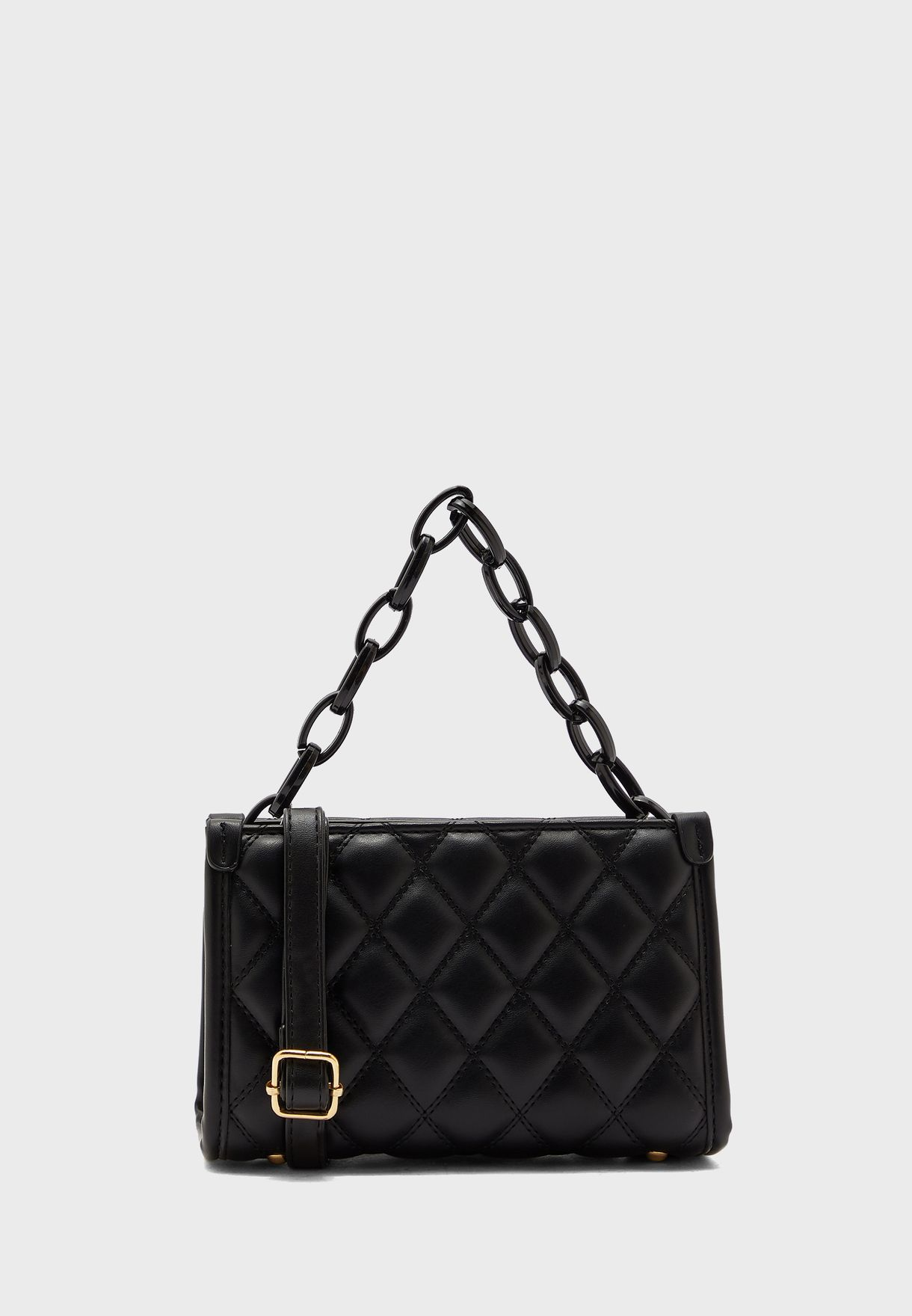 Quilted Handbag With Chain Detail