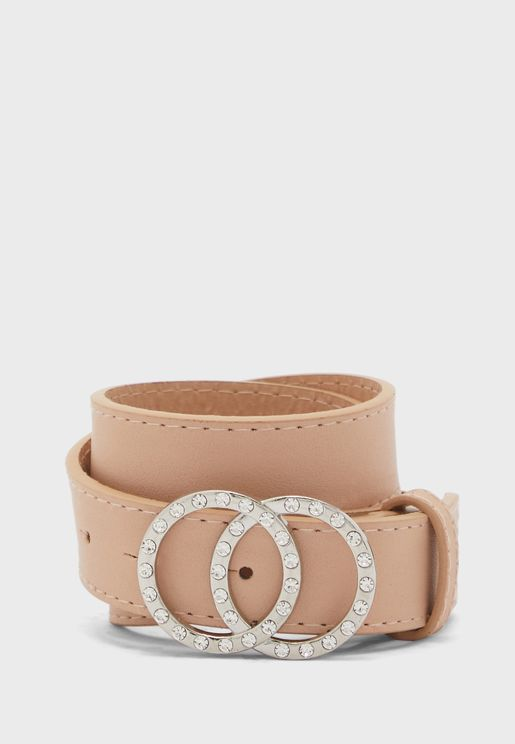 Diamante Circle Belt