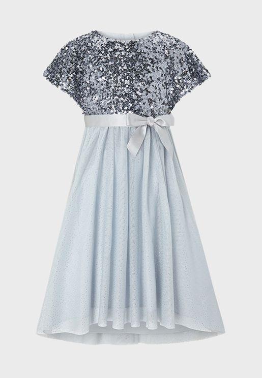 Kids Cape Sequin Dress