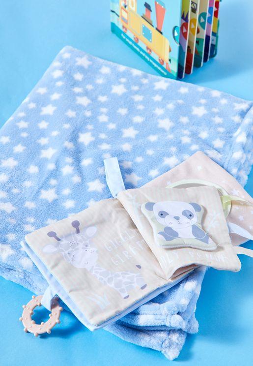 طقم بطانية وكتاب قماش