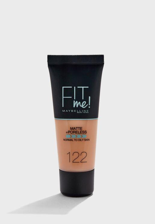 Fit Me Matte & Poreless Foundation - 122 Creamy Beige
