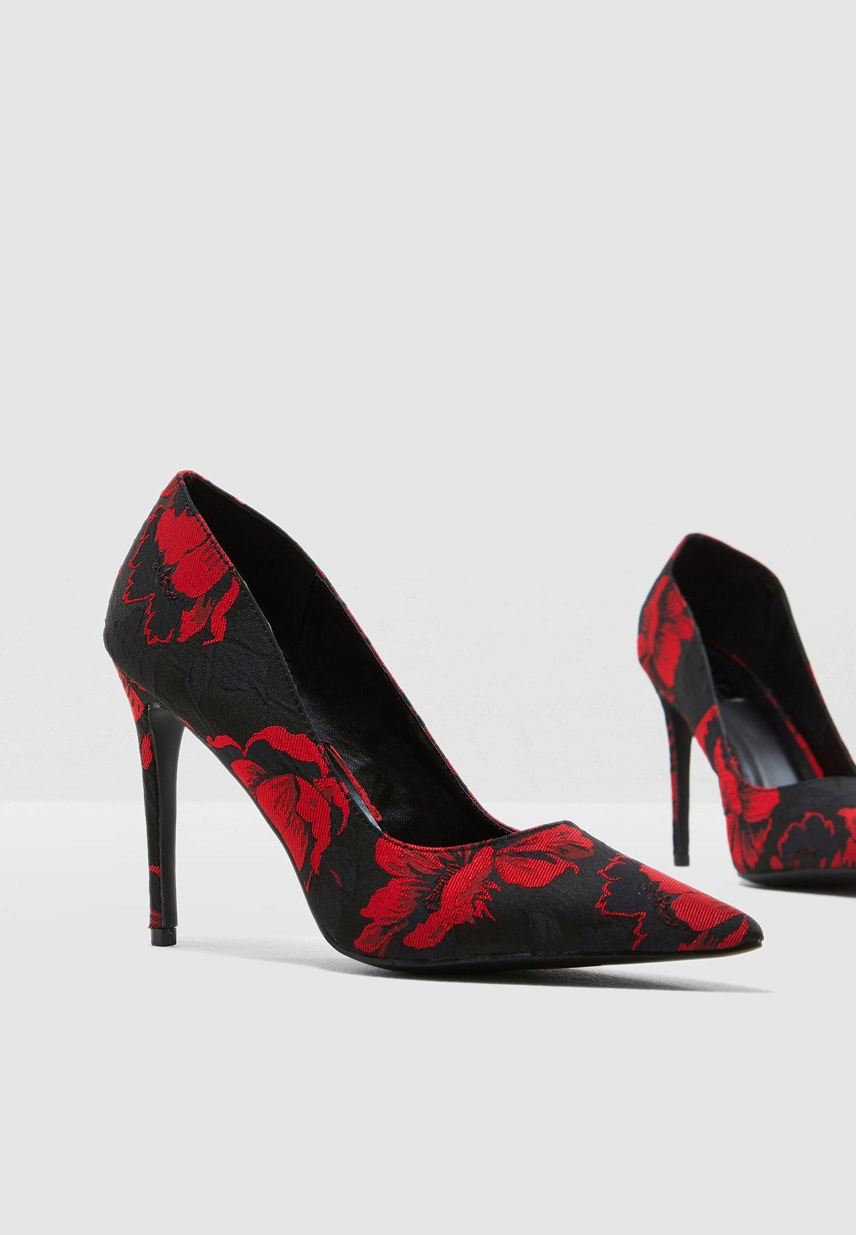 936164a9584 Shop Ella red Jacquard Design Pump HR9631-SSN for Women in UAE ...