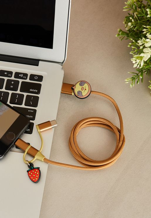 Sloth 3-in-1 USB Cable