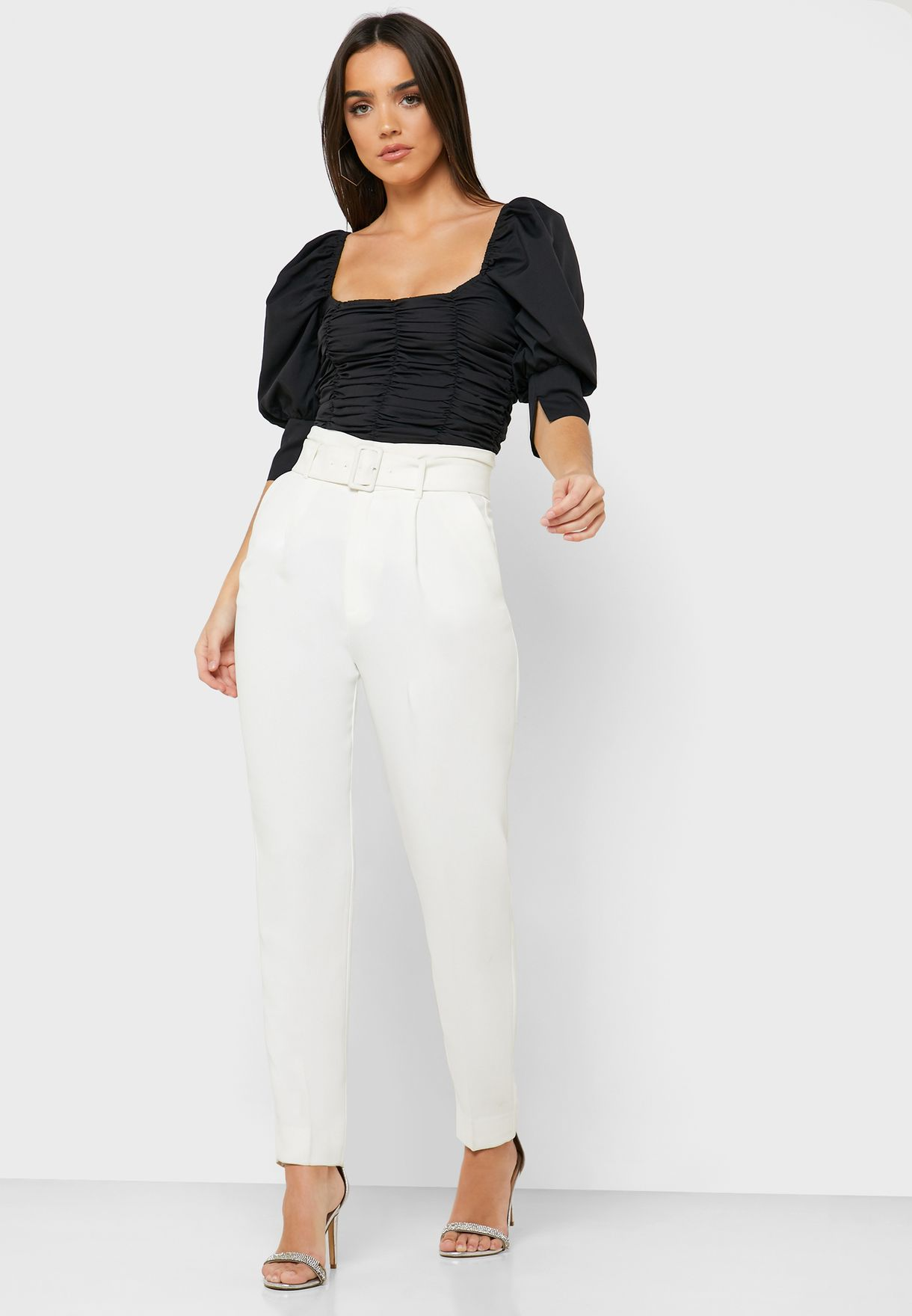 Ruched Detail Crop Top