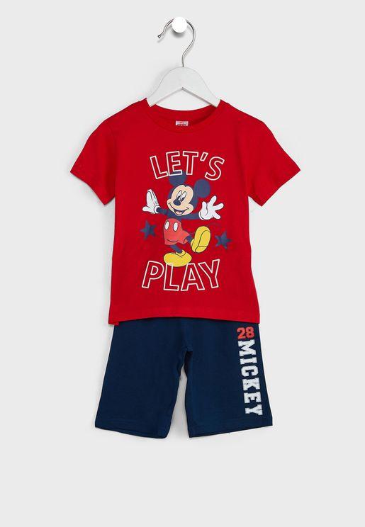 Kids Mickey Mouse T-Shirt & Shorts Set
