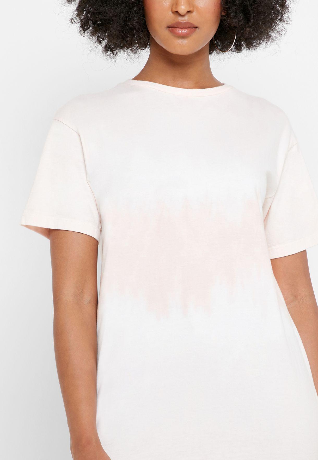 Longline Tie Dye T-Shirt