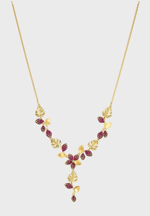 Tropical  Y-Shape Necklace