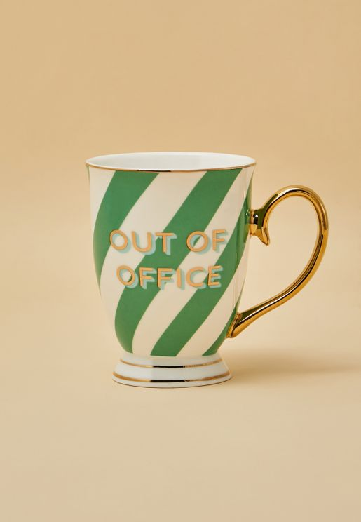 Out Of Office Striped Mug