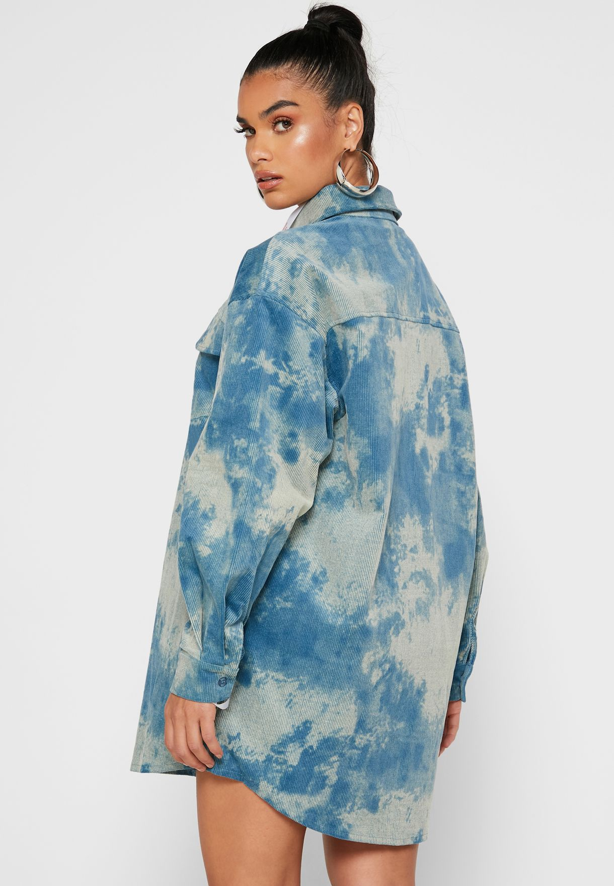 Tie Dye Oversized Shirt Dress