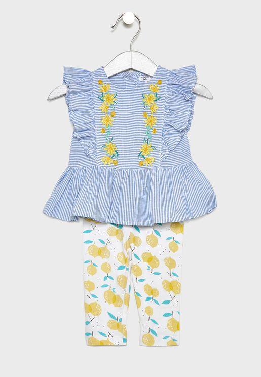 Infant Striped Top + Leggings Set
