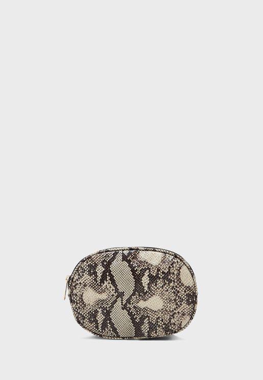شنطة خصر بطبعات جلد ثعبان