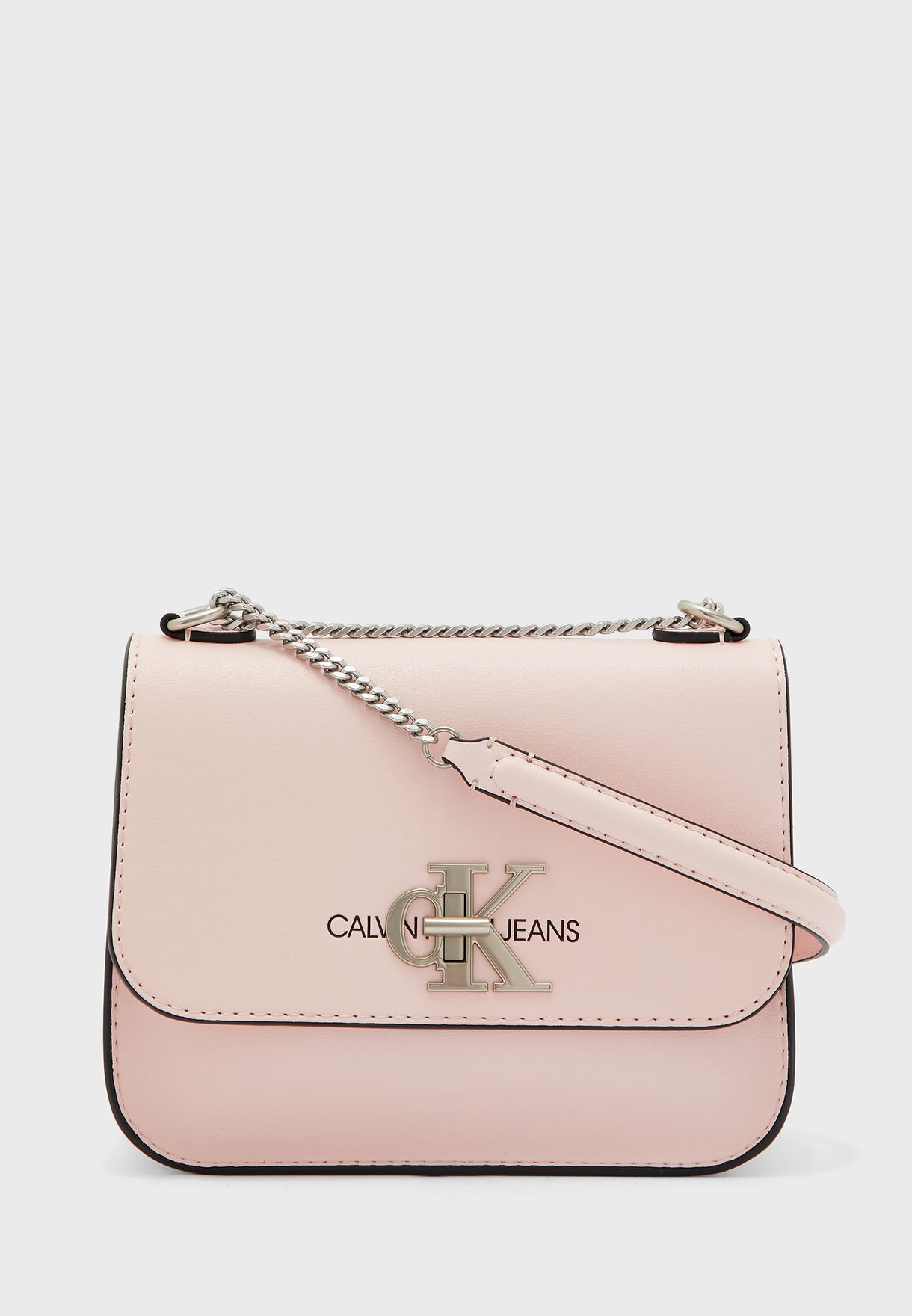 Logo Front Button Crossbody