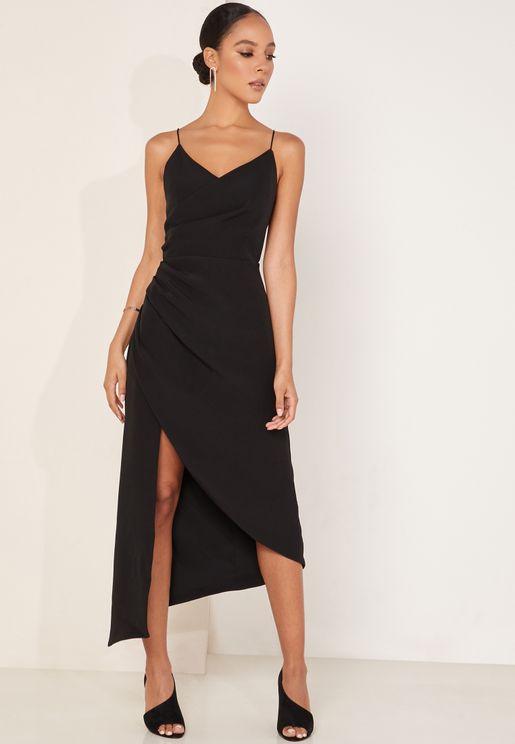 Finale Asymmetric Side Split Dress