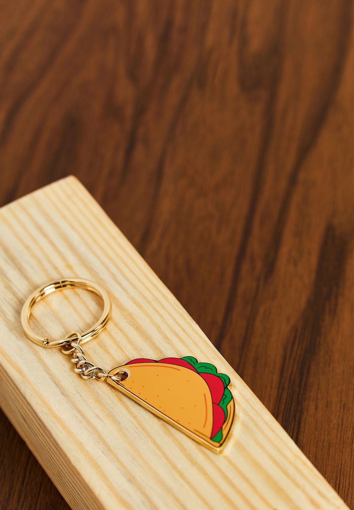 Taco Time Keyring