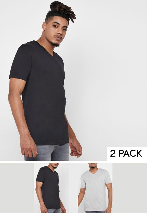 2 Pack Essential V-Neck T-Shirt