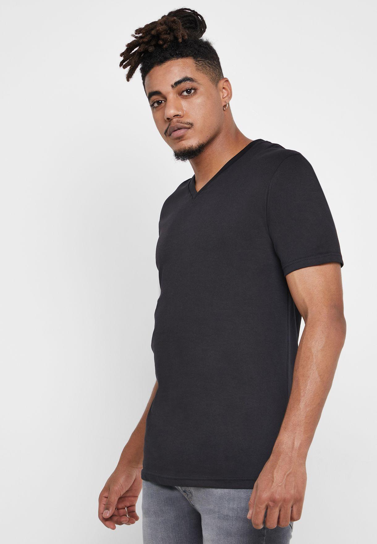 2 Pack Essential V-Neck T-Shirt