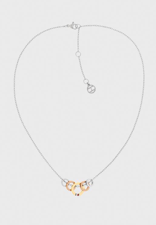 2780308 Tri-Metal Circle Necklace