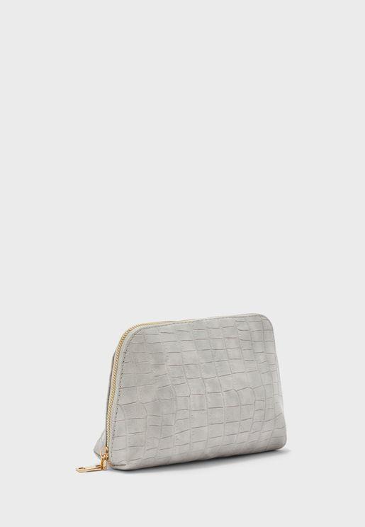 Croc Zip Around Cosmetic Bag