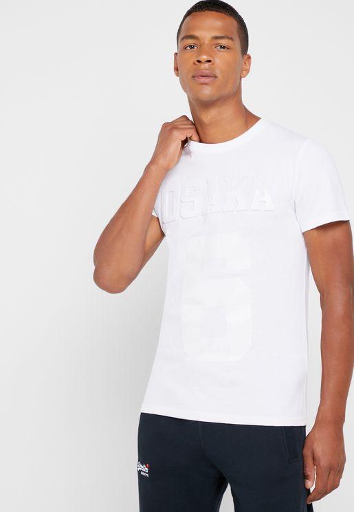 Osaka Emboss Crew Neck T-Shirt
