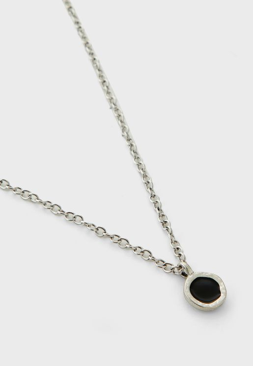 Round Composite Stone Necklace