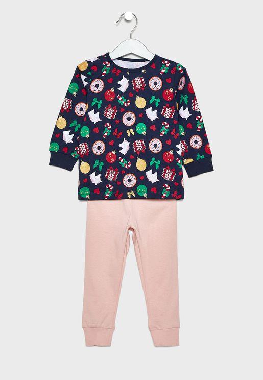Kids Floral Pyjama Set