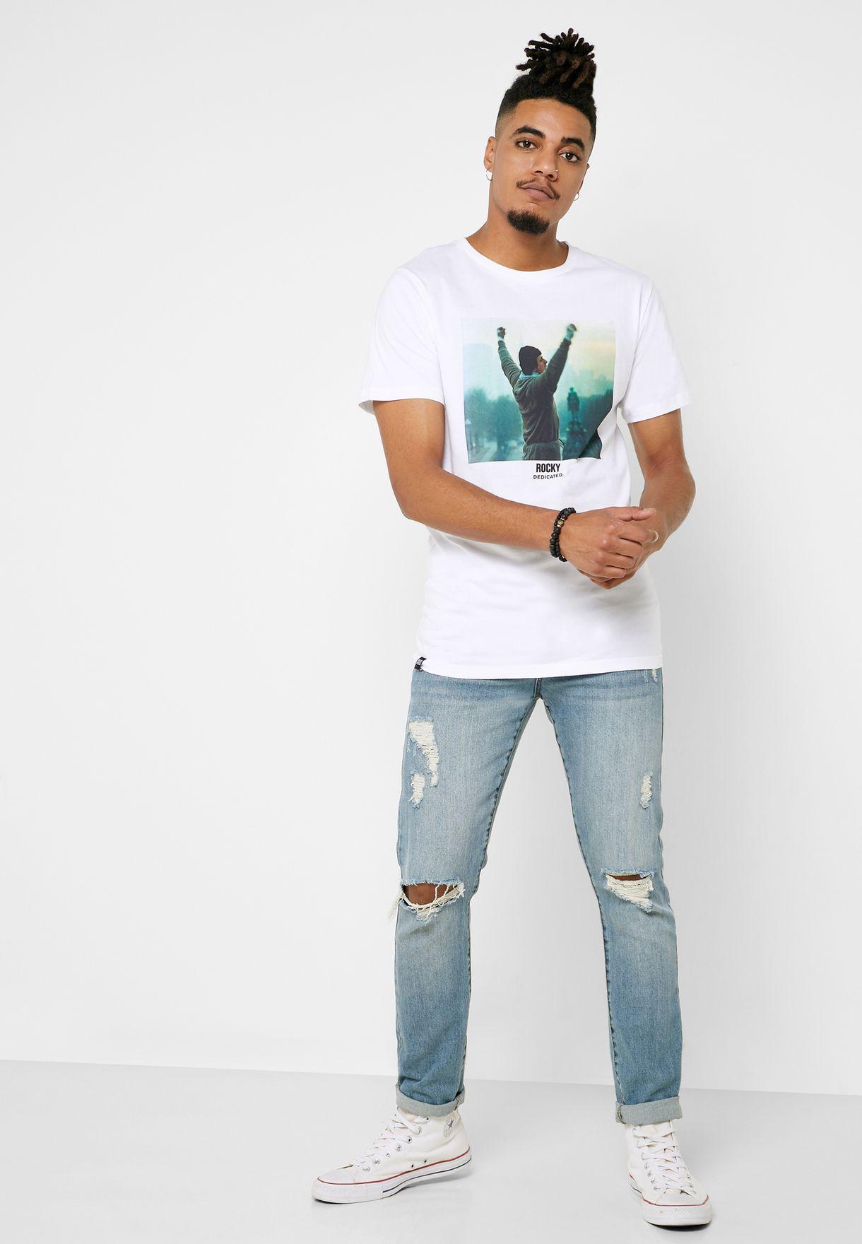 Stockholm Rocky Victory Crew Neck T-Shirt