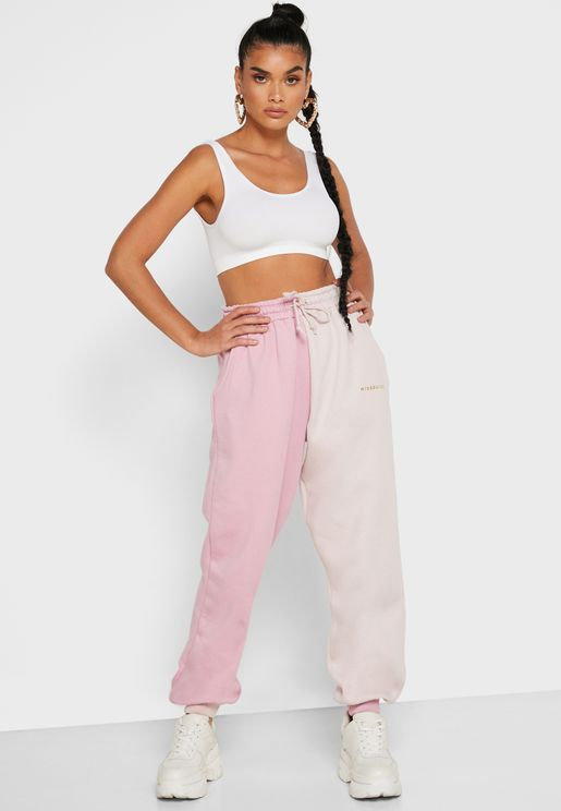 Colorblock Oversized Joggers