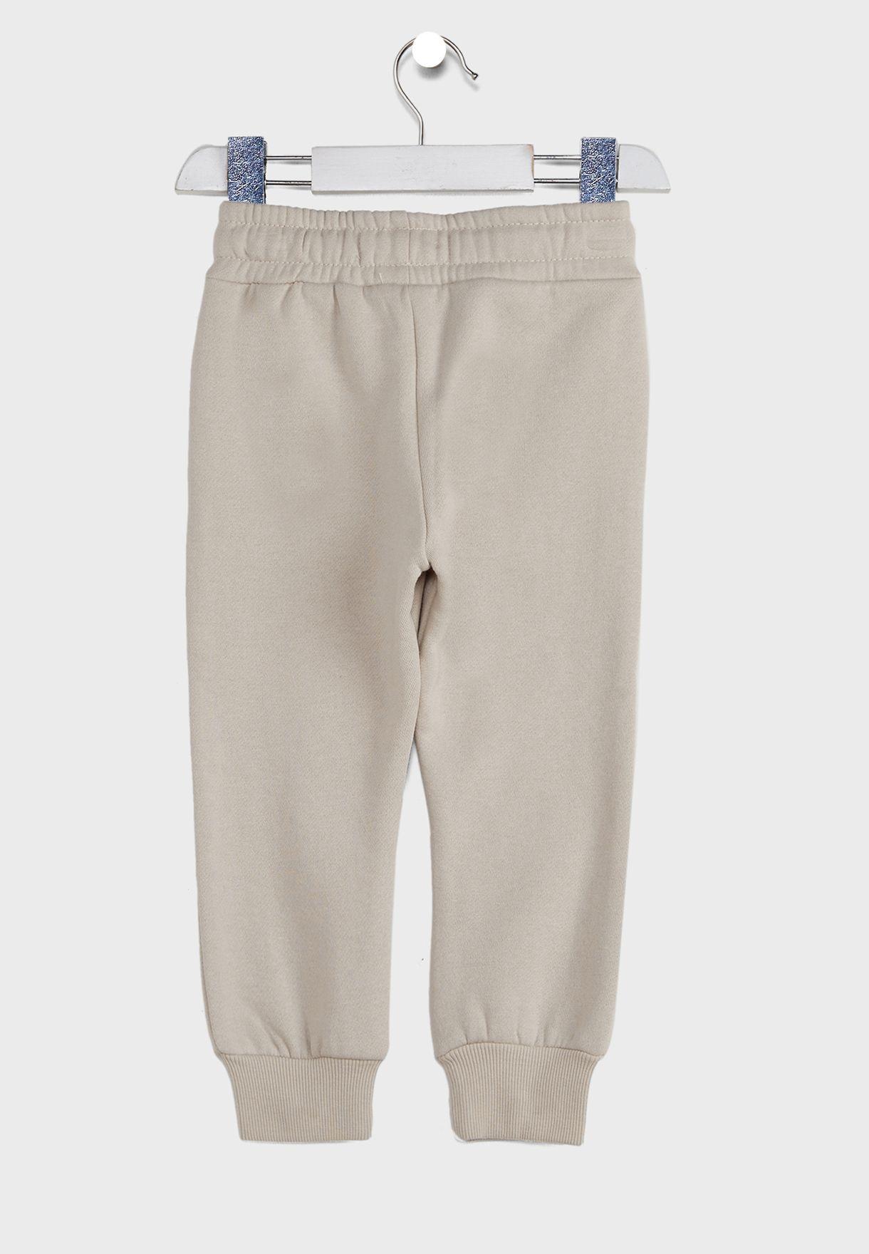 Kids Embroidered Mickey Cuffed Sweatpants