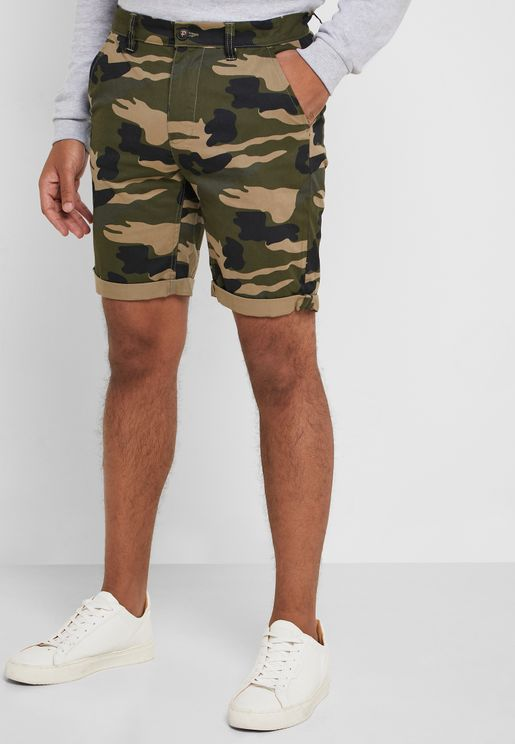 Miko Camo Chino Shorts