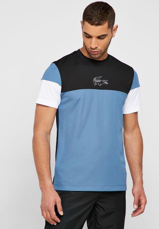Colour Block Crew Neck T-Shirt