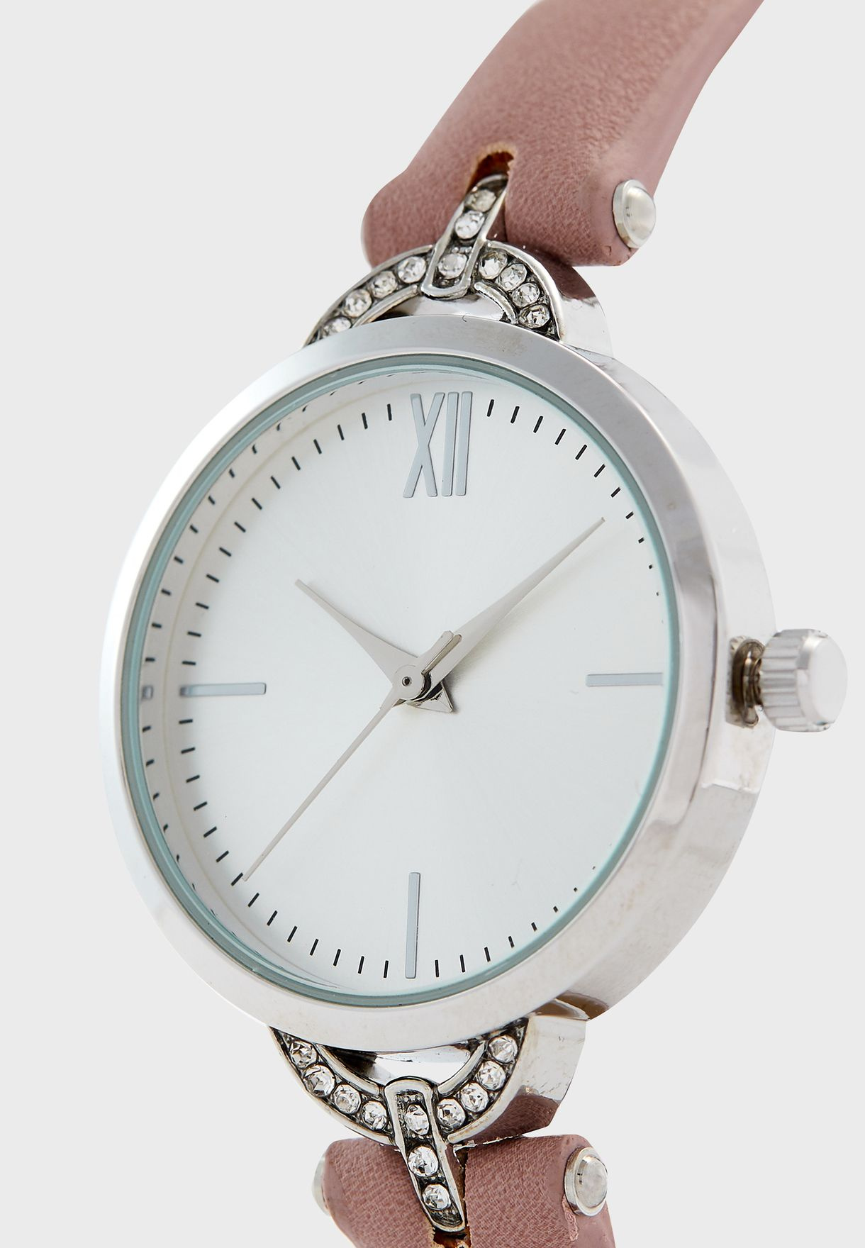 Stone Set TBar Strap Watch