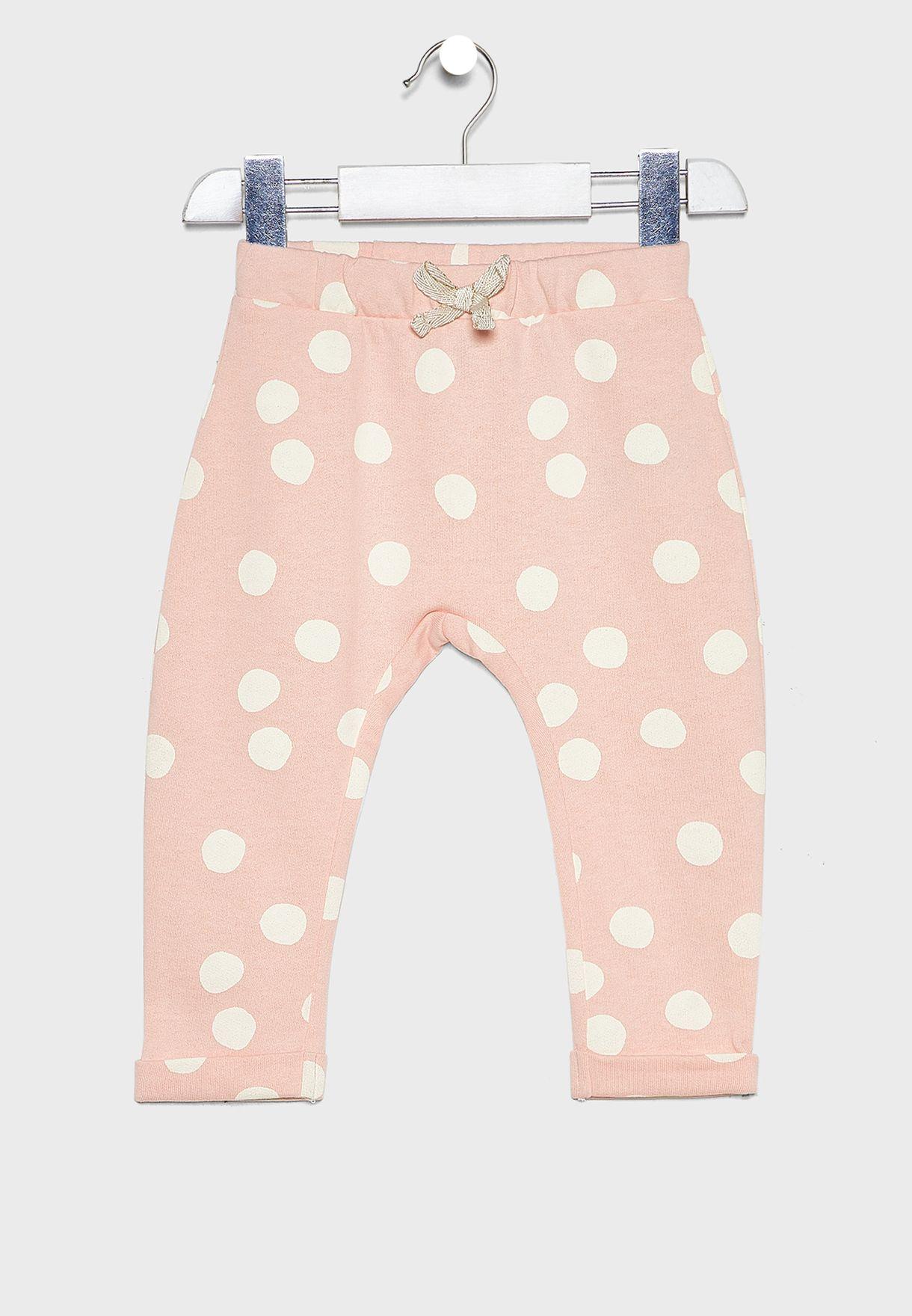 Infant Zebra Top + Polka Dot Legging Set