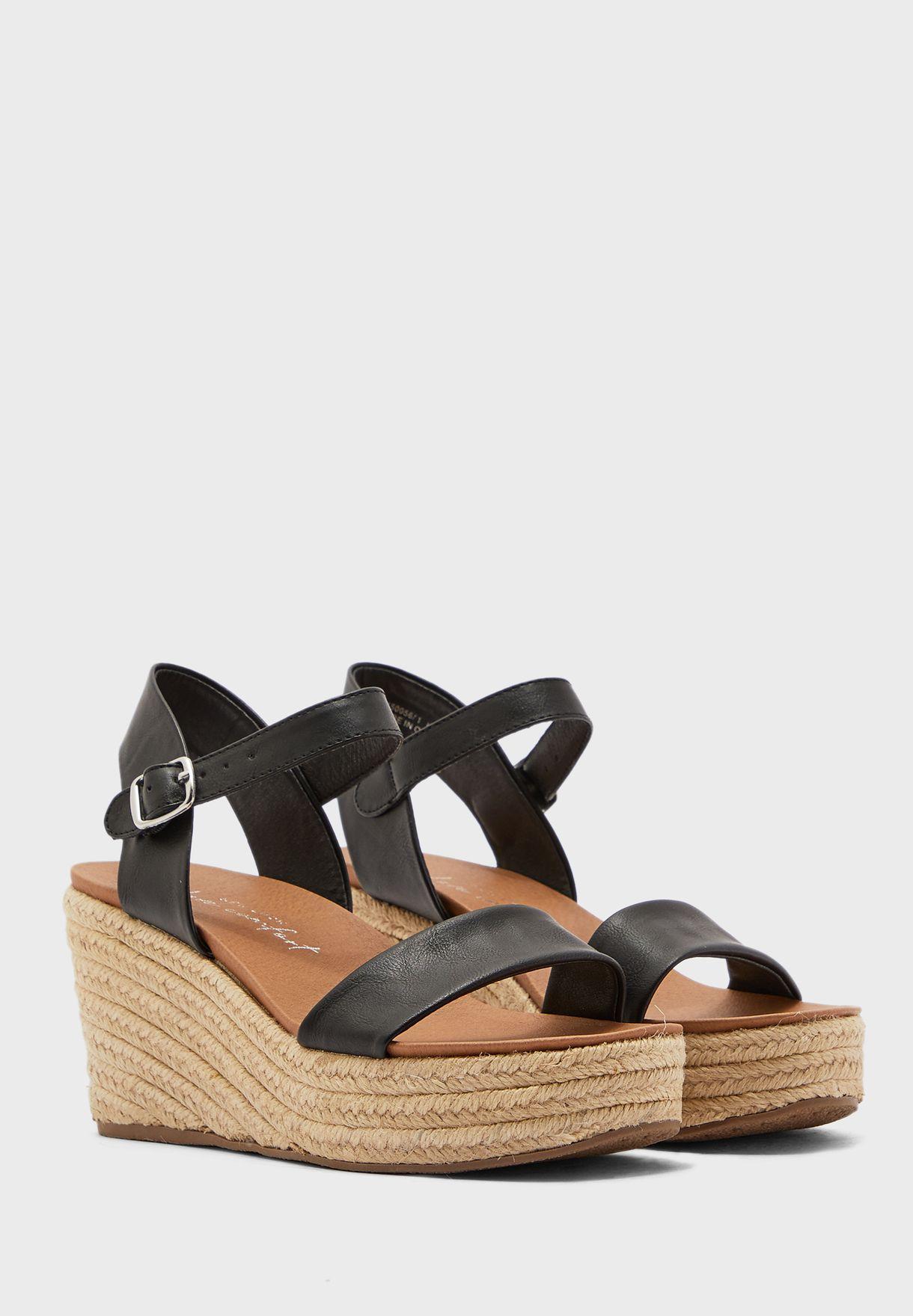 Pickle Ankle Strap Wedge Heel Sandal