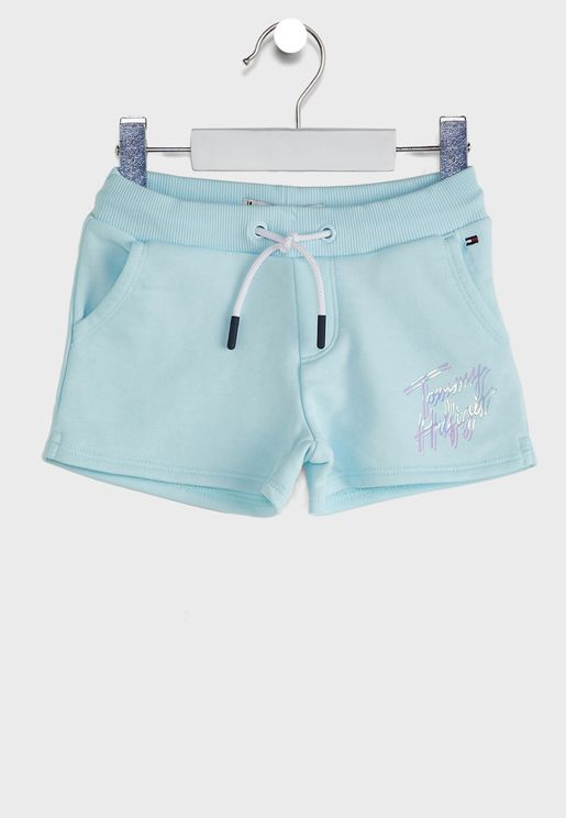 Teen Cool Logo Print Sweat Shorts
