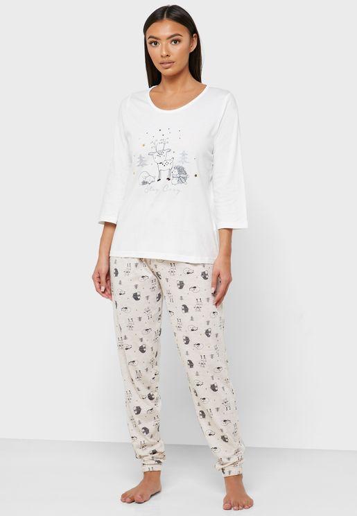 Graphic T-Shirt & Pyjama Set