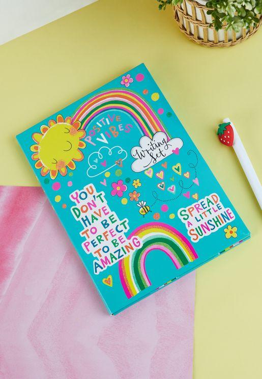 Positive Vibes Writing Set