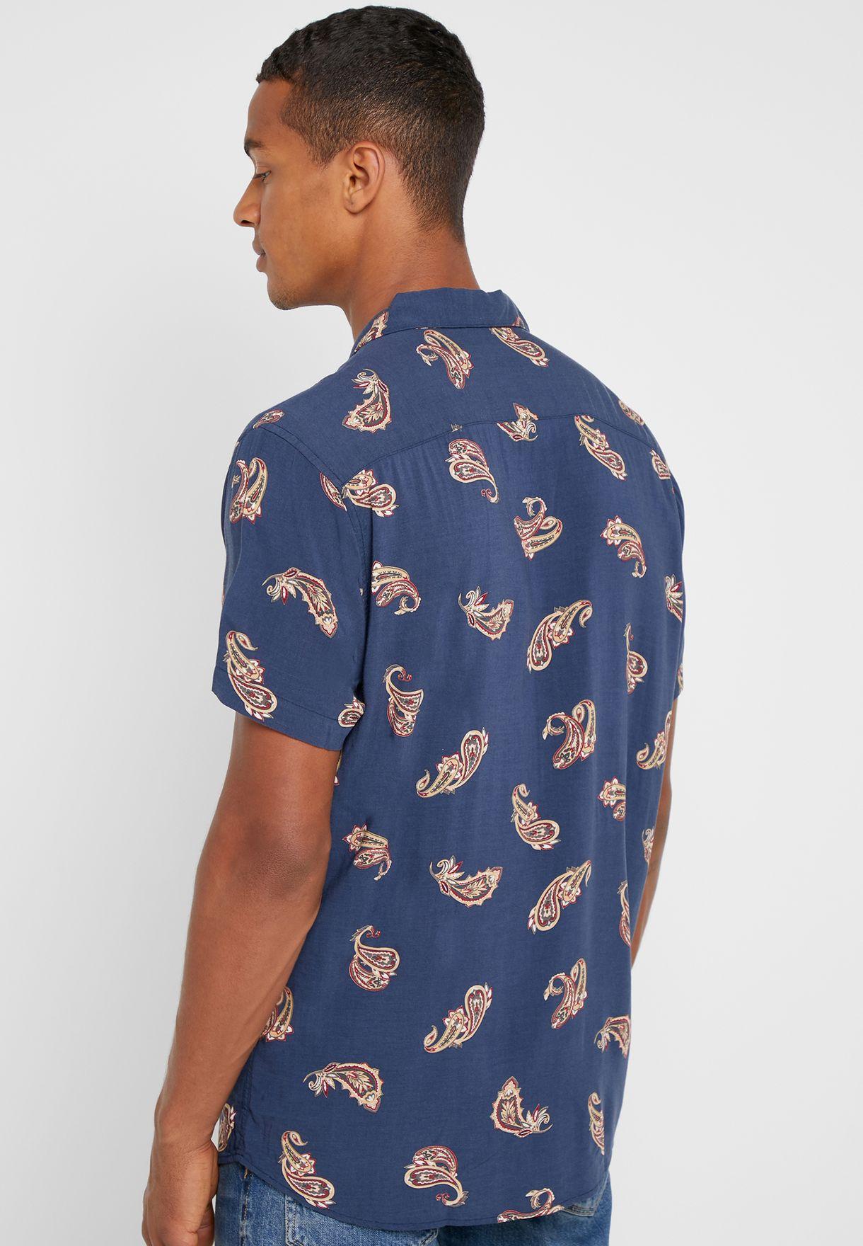 قميص فيسكوز بطبعات بيسلي