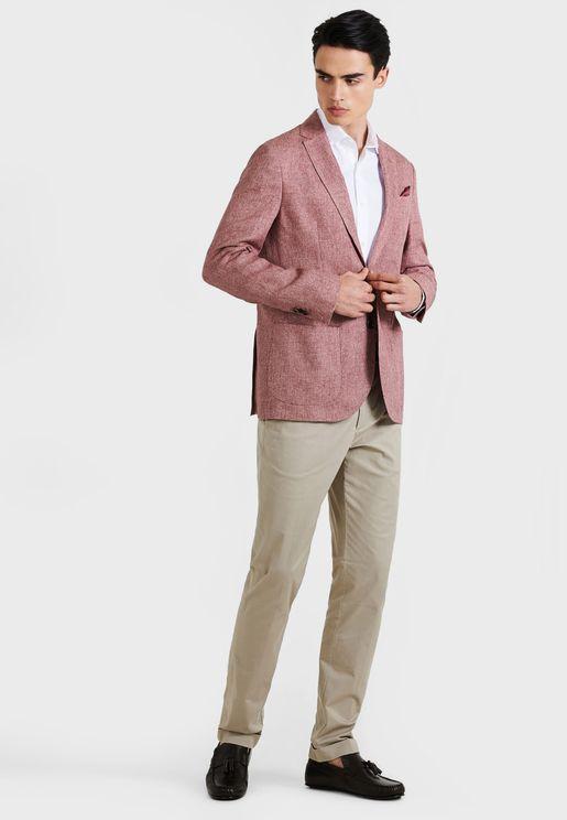 Textured Slim Fit Blazer