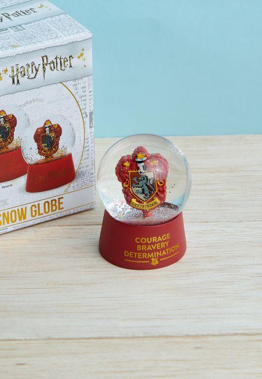 كرة ثلج زجاجية مزينة بجريفوندور هاري بوتر