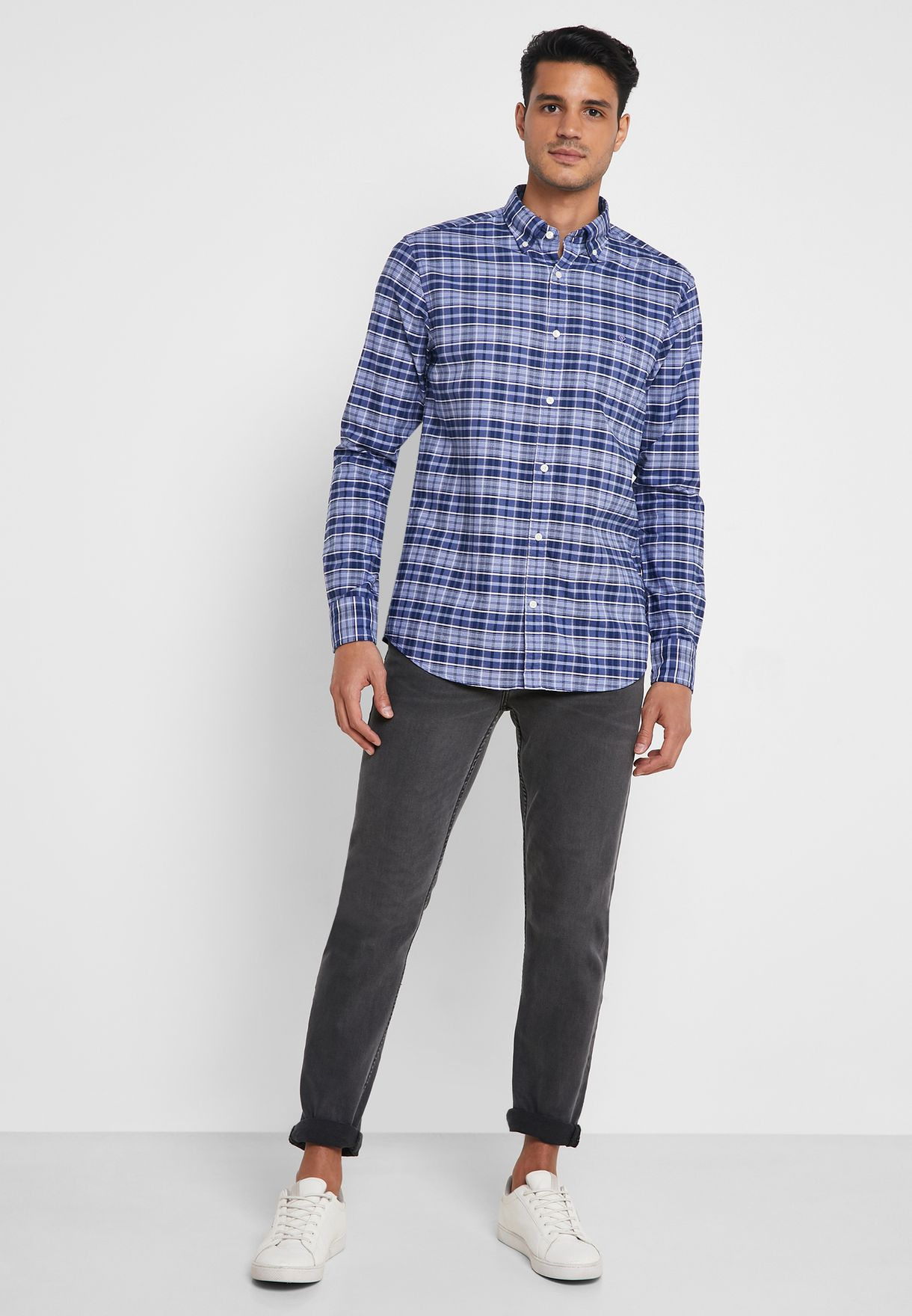 Oxford Checked Regular Fit Shirt