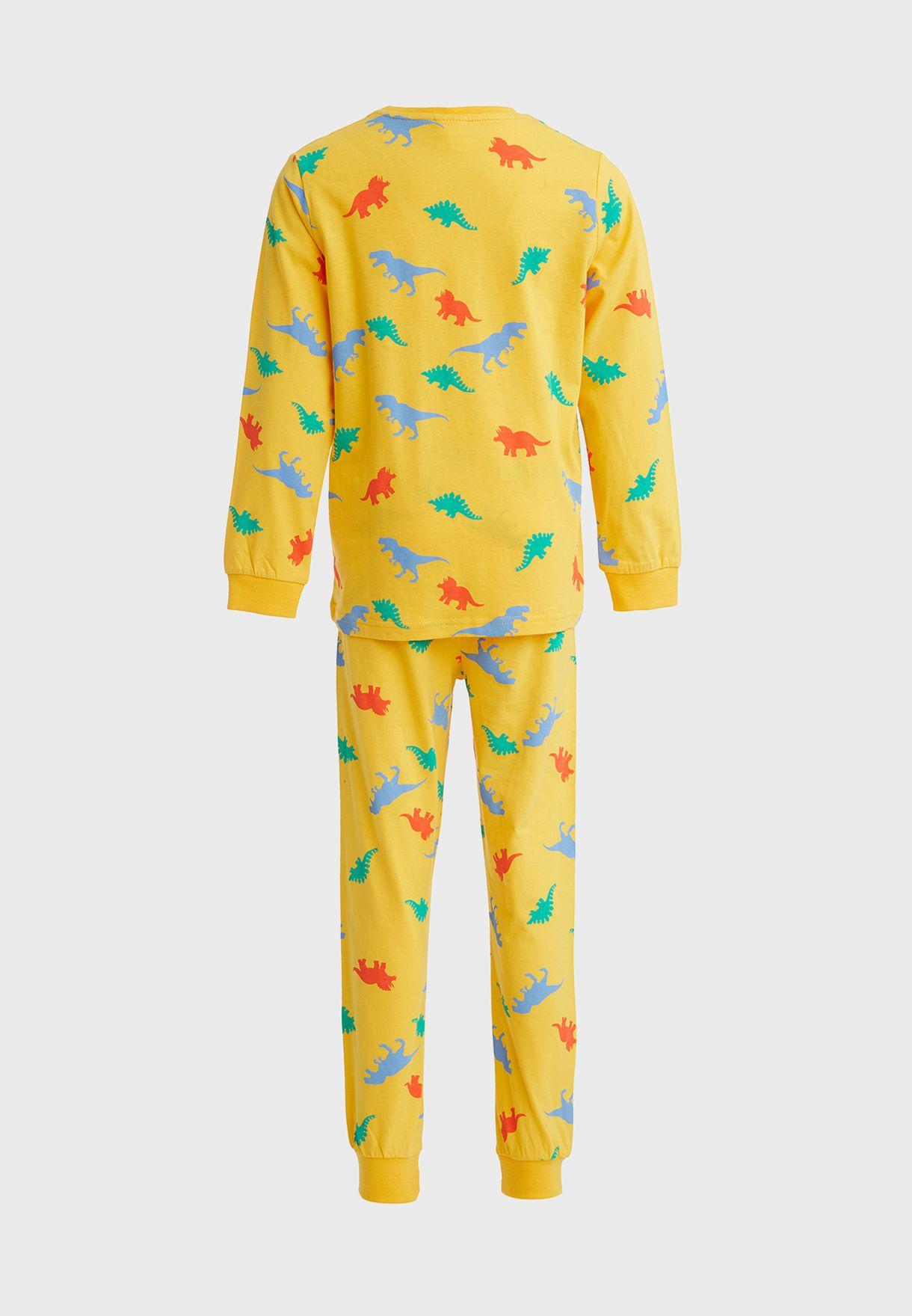 Kids Dino Print Pyjama Set