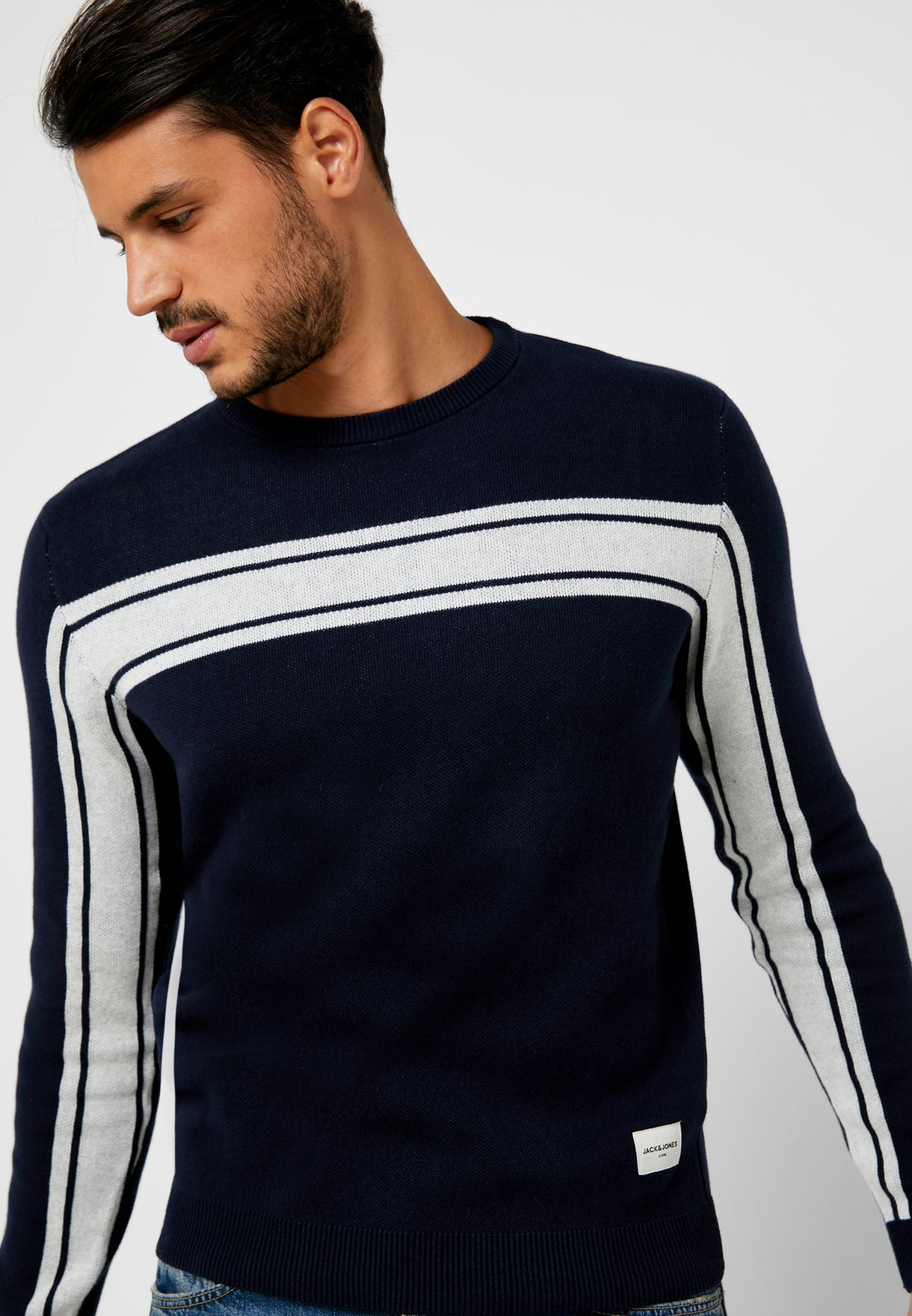 Moree Chest Stripe Knitted Sweater
