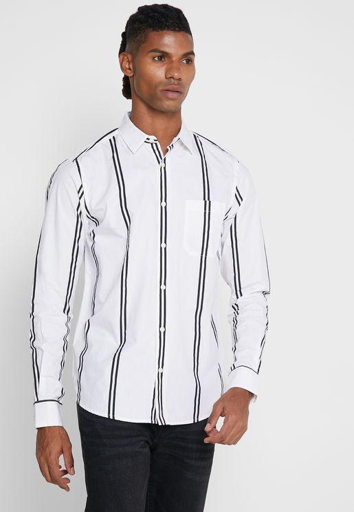 قميص سليم فت مخطط