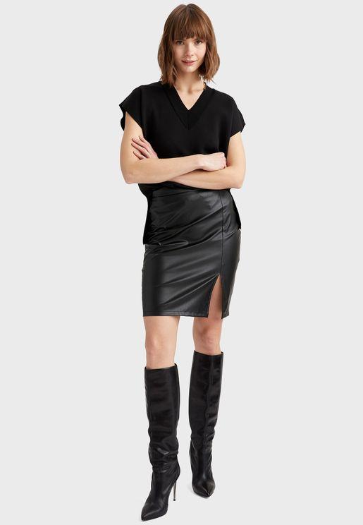 Kitted Mini Skirt