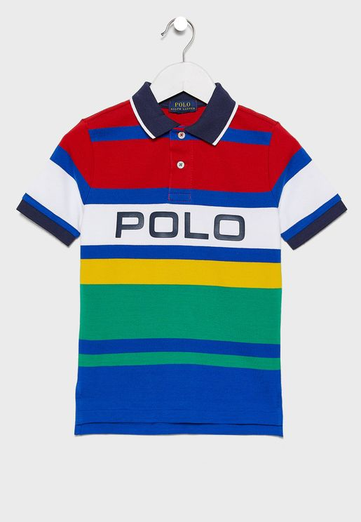 Kids Color Block Polo