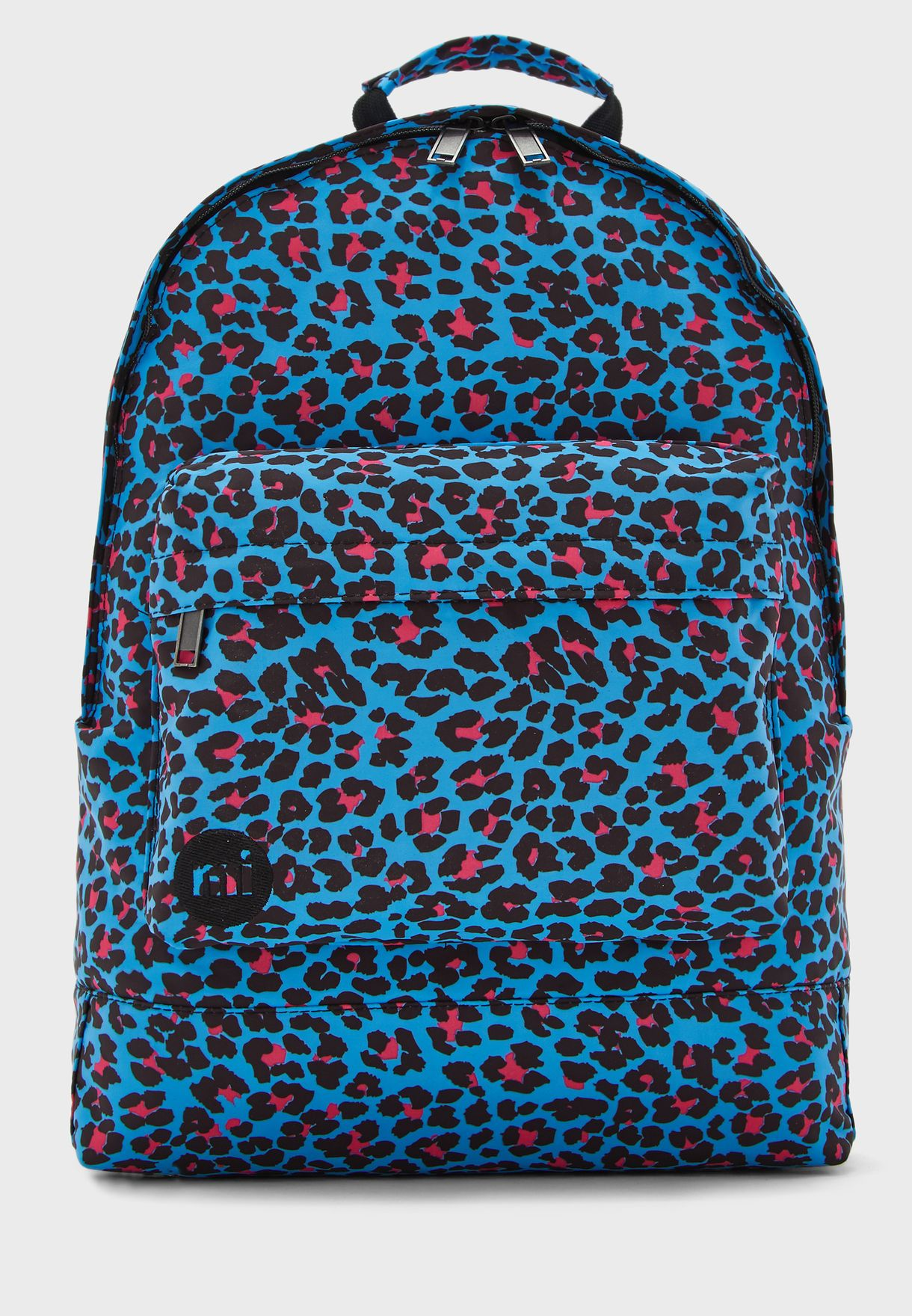 Leopard Print Zip Pocket Backpack