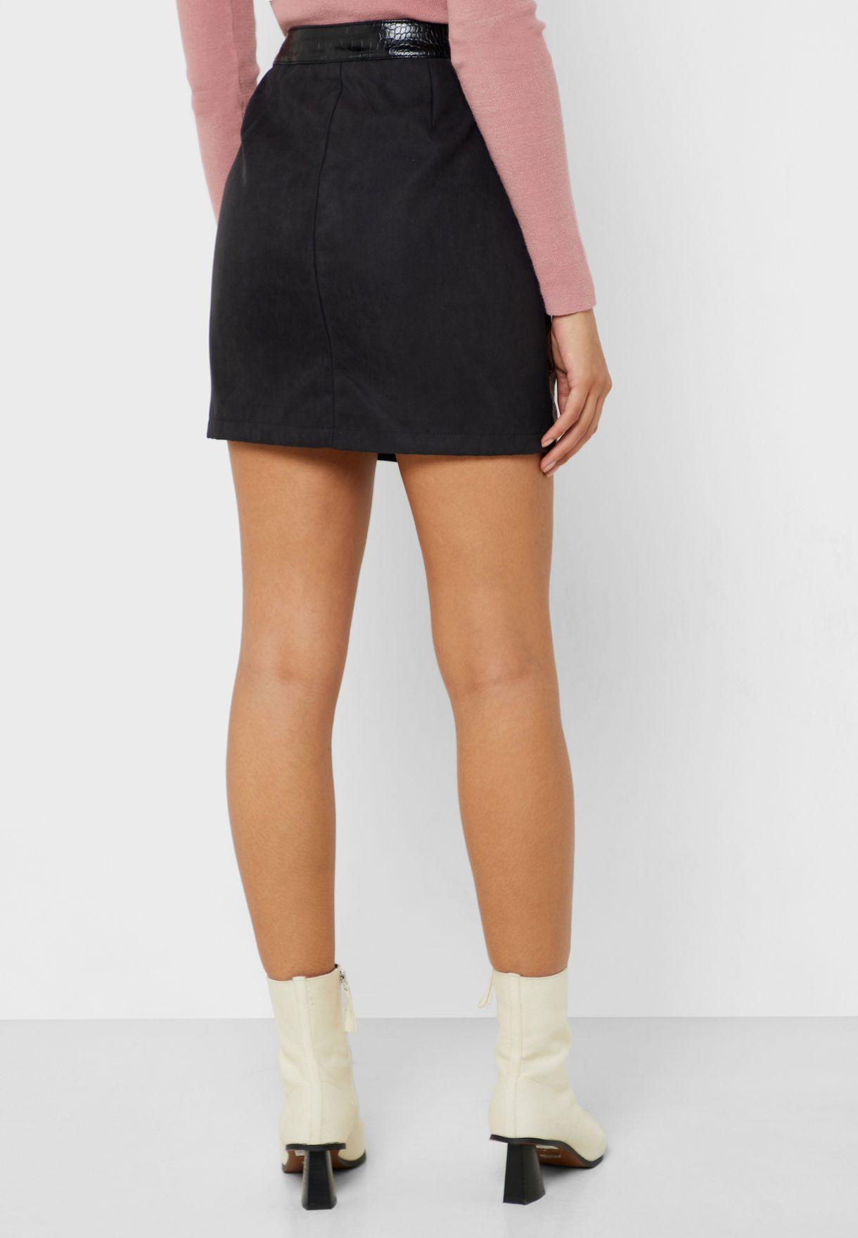 Full Zip PU Skirt