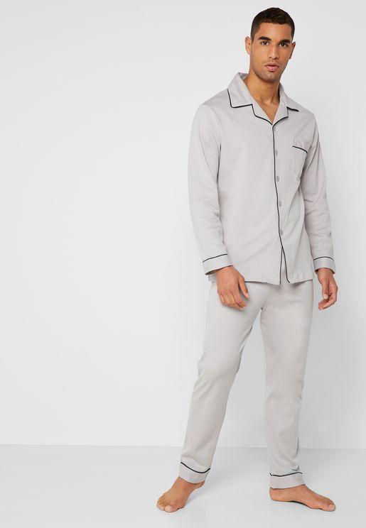 Buttoned Pyjama Set