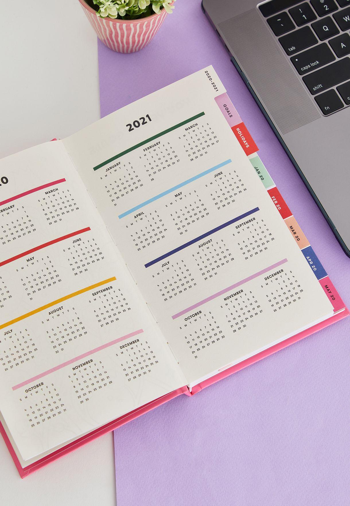 دفتر تخطيط بطبعة - 12 شهر