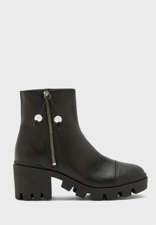 Zip Through Ankle Boot